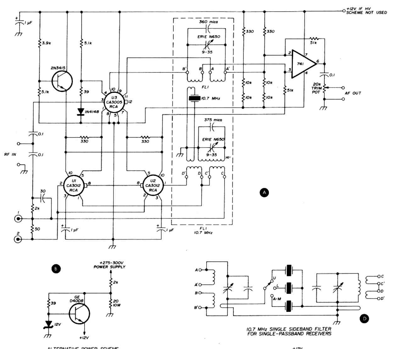 Second Generation Reciprocating Detector Schematic Circuit Diagram Audio Amplifier Circuits